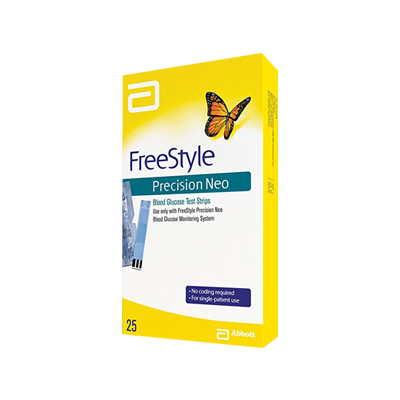 FreeStyle Precision Neo Test Strips – 25-count box